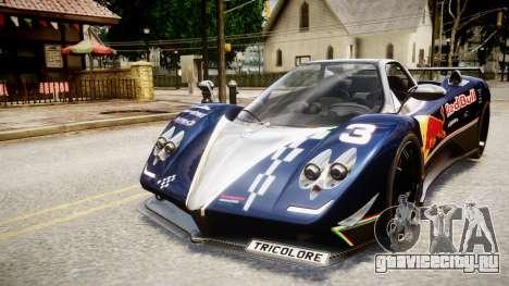 Pagani Zonda Tricolore для GTA 4 вид сзади слева