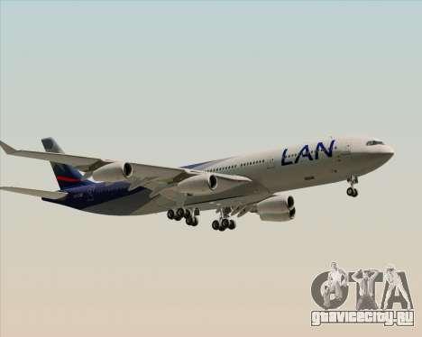 Airbus A340-313 LAN Airlines для GTA San Andreas вид сзади