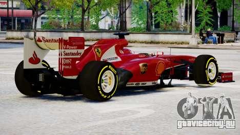 Ferrari F138 v2 для GTA 4 вид справа