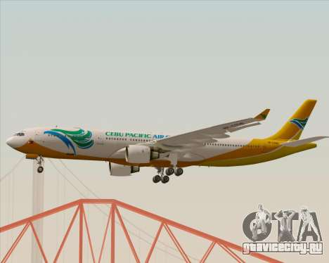 Airbus A330-300 Cebu Pacific Air для GTA San Andreas вид изнутри
