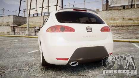 Seat Leon Guido Belsito для GTA 4 вид сзади слева