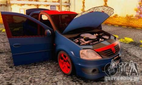Dacia Logan Turkey Tuning для GTA San Andreas вид сверху