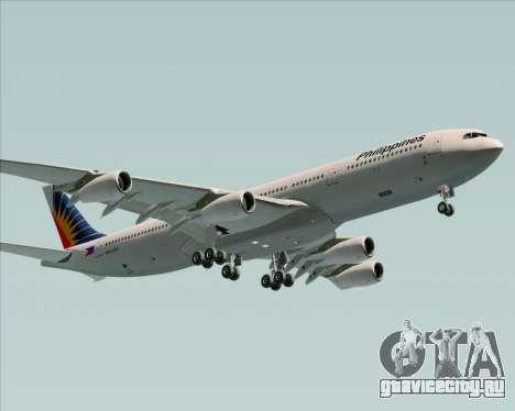Airbus A340-313 Philippine Airlines для GTA San Andreas вид изнутри