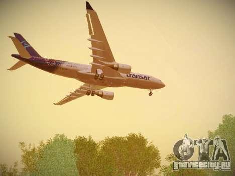 Airbus A330-200 Air Transat для GTA San Andreas колёса