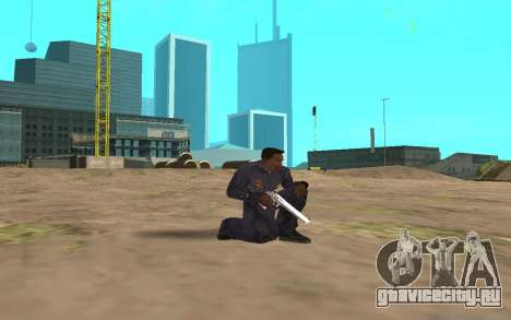 Chrome Weapon Pack by SampHack для GTA San Andreas