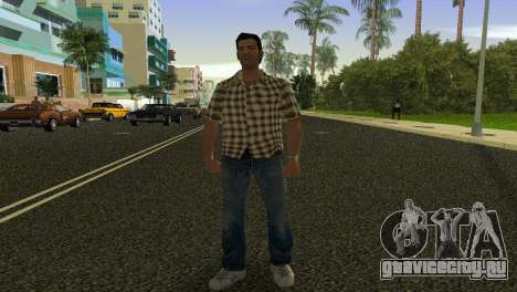 Kockas polo - citrom sarga T-Shirt для GTA Vice City второй скриншот