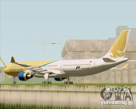 Airbus A330-300 Gulf Air для GTA San Andreas вид сзади слева