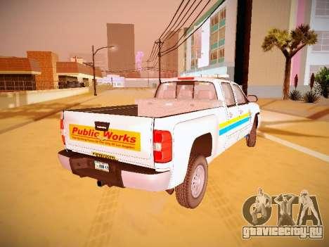 Chevrolet Silverado 2500HD Public Works Truck для GTA San Andreas вид слева