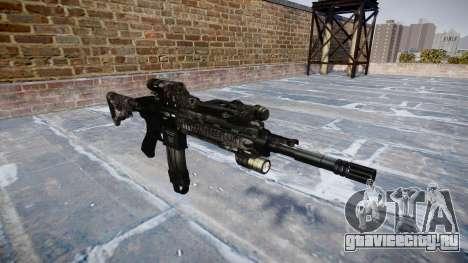 Автоматический карабин Colt M4A1 kryptek typhon для GTA 4