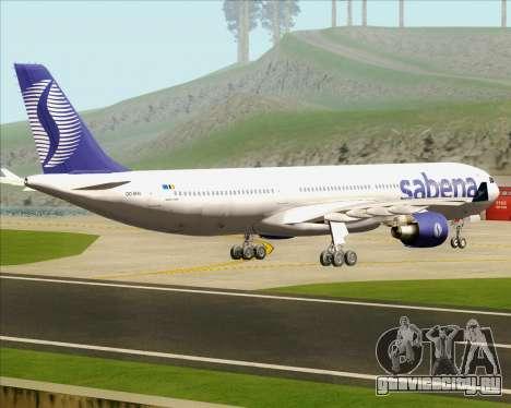 Airbus A330-300 Sabena для GTA San Andreas вид справа
