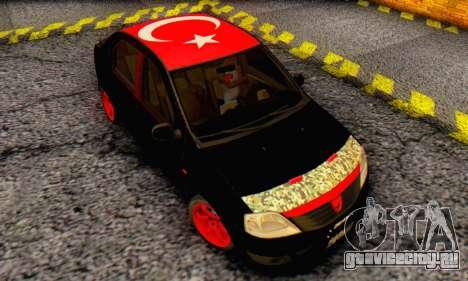 Dacia Logan Turkey Tuning для GTA San Andreas вид изнутри