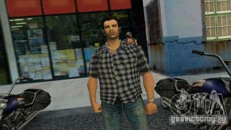 Kockas polo - szurke T-Shirt для GTA Vice City третий скриншот
