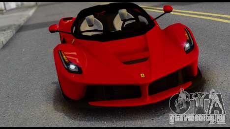 Ferrari LaFerrari 2014 (IVF) для GTA San Andreas вид сзади