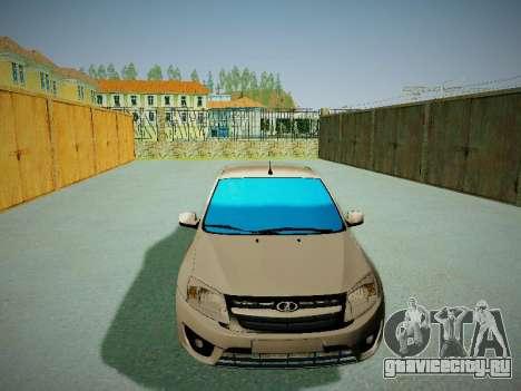 Lada Granta Liftback для GTA San Andreas вид сзади
