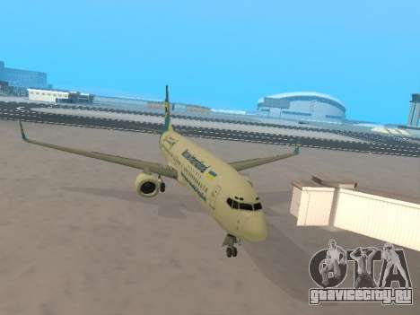 Boeing 737-84R Ukraine International Airlines для GTA San Andreas вид изнутри