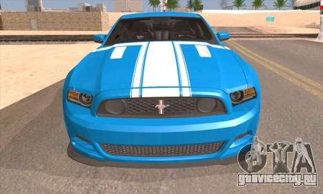 Ford Mustang Boss 302 2013 для GTA San Andreas вид справа