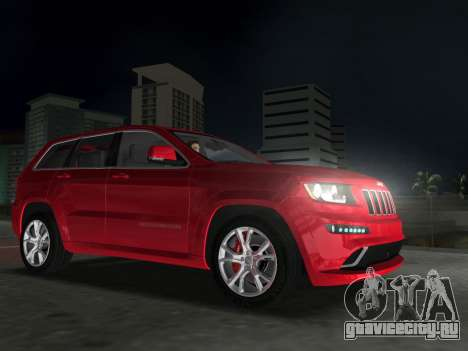 Jeep Grand Cherokee SRT-8 (WK2) 2012 для GTA Vice City вид сзади слева