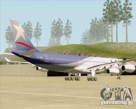 Airbus A340-313 LAN Airlines для GTA San Andreas вид сзади слева