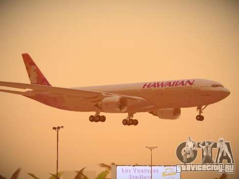 Airbus A330-200 Hawaiian Airlines для GTA San Andreas колёса