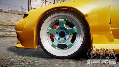 Nissan Silvia S15 Street Drift [Updated] для GTA 4 вид сзади