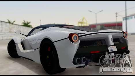 Ferrari LaFerrari 2014 (HQLM) для GTA San Andreas вид слева