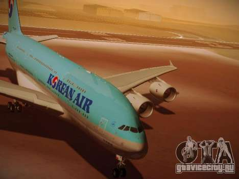Airbus A380-800 Korean Air для GTA San Andreas вид слева