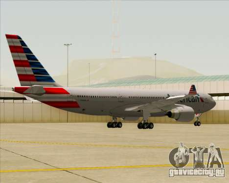 Airbus A330-200 American Airlines для GTA San Andreas вид сзади