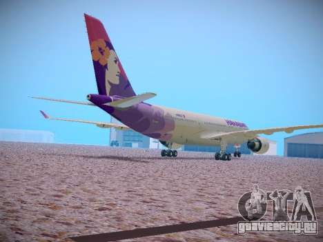 Airbus A330-200 Hawaiian Airlines для GTA San Andreas вид изнутри