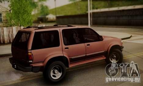 Ford Explorer 1996 для GTA San Andreas вид слева
