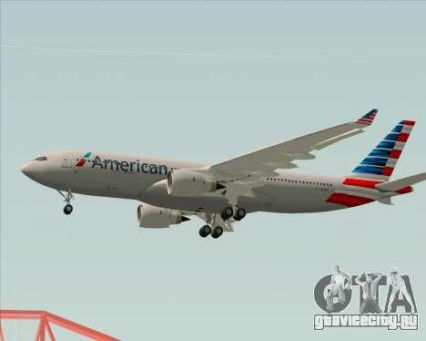 Airbus A330-200 American Airlines для GTA San Andreas вид снизу