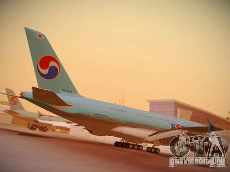 Airbus A380-800 Korean Air для GTA San Andreas вид сверху