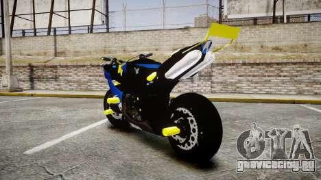 Yamaha R1 2007 Stunt для GTA 4 вид сзади слева