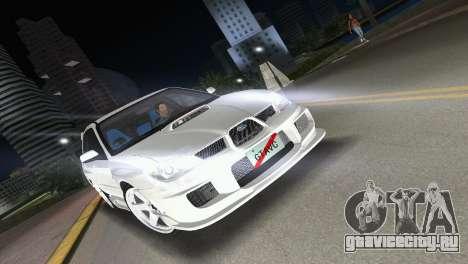Subaru Impreza WRX STI 2006 Type 3 для GTA Vice City вид сзади