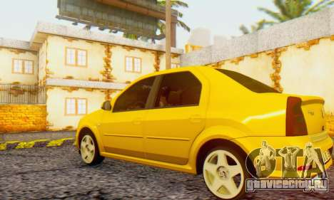 Dacia Logan Delta Garage для GTA San Andreas вид слева