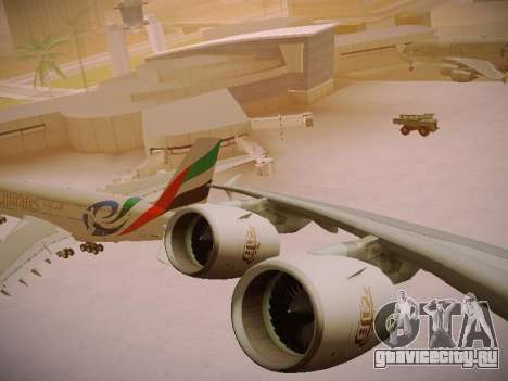 Airbus A380-800 Emirates Rugby World Cup для GTA San Andreas вид сверху