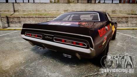 Dodge Challenger 1971 v2.2 PJ8 для GTA 4 вид сзади слева