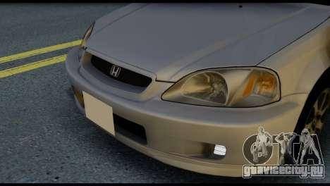 Honda Civic Si 1999 для GTA San Andreas вид изнутри