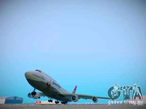 Boeing 747-438 Qantas Boxing Kangaroo для GTA San Andreas вид сзади слева