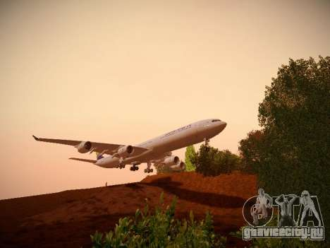Airbus A340-600 South African Airways для GTA San Andreas вид изнутри