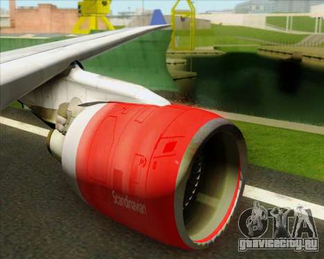 Airbus A330-300 Scandinavian Airlines System. для GTA San Andreas салон