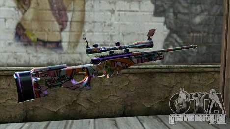 Graffiti Sniper Rifle для GTA San Andreas второй скриншот