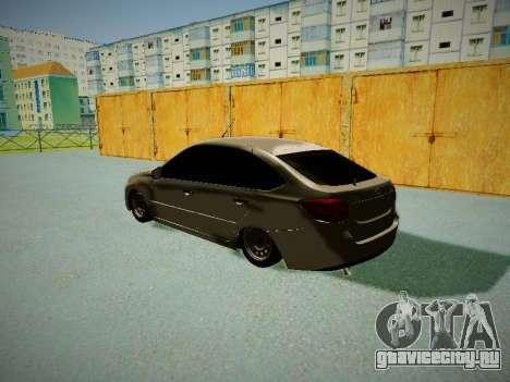 Lada Granta Liftback для GTA San Andreas вид сзади слева