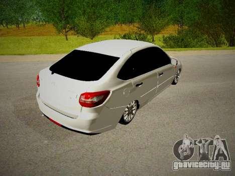 Lada Granta Liftback для GTA San Andreas вид справа