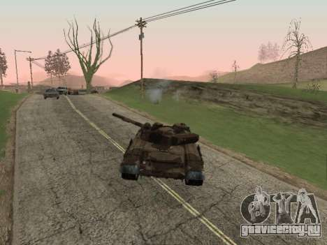 Т-72 для GTA San Andreas вид справа