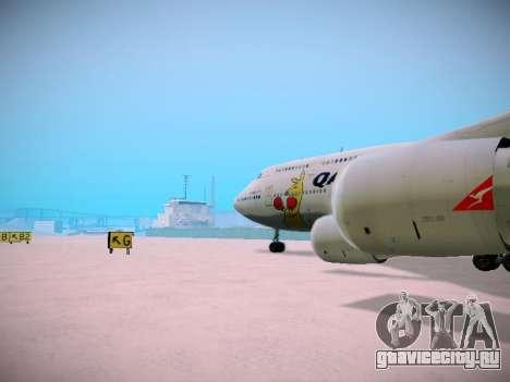 Boeing 747-438 Qantas Boxing Kangaroo для GTA San Andreas салон