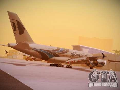 Airbus A380-800 Malaysia Airlines для GTA San Andreas салон