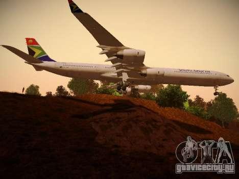 Airbus A340-600 South African Airways для GTA San Andreas вид сзади