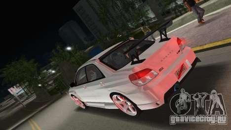 Subaru Impreza WRX STI 2006 Type 3 для GTA Vice City вид слева