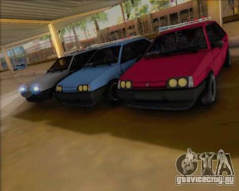ВАЗ 2109 Low Classic для GTA San Andreas вид сзади слева
