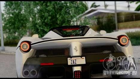 Ferrari LaFerrari 2014 (HQLM) для GTA San Andreas вид сзади